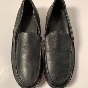 Polo Ralph Lauren Black Leather and suede shoes